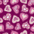 Background with scribble hearts,  Stock Photos
