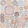 Background seamless ethnic pattern vector illustration Royalty Free Stock Image