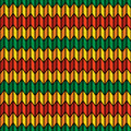 Background seamless pattern in rasta colors Stock Image