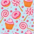 Background Seamless Sweet Donu...