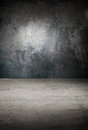 Background in shades of gray dark grayscale effect an old concrete paint cracks Stock Photography