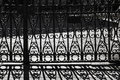 Background of shadow of wrought iron bars Royalty Free Stock Photo