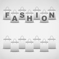 Background shopping bag and inscription fashion vector illustration of sale commerce consumerism Stock Images