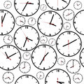Background with simple clocks seamless pattern Stock Photo
