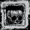 Background with skull in grunge style Stock Photography