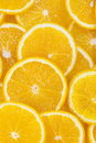 Background of sliced oranges nutritional on orange Royalty Free Stock Photos