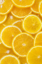 Background of sliced oranges tropical Stock Photo