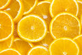 Background of sliced oranges Royalty Free Stock Photo