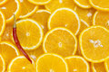 Background of sliced oranges tropical meal nature Stock Photo