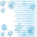 Background with snowflakes 2 Royalty Free Stock Image