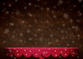 Background with snowflakes and red table dark polka dot computer graphics Stock Photo