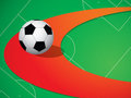 Background with soccer ball Royalty Free Stock Photos