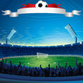 Background with Soccer Stadium Stock Photos