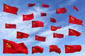 Background this is soviet flags for or fun Royalty Free Stock Photos