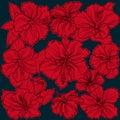 Background sprite texture ornament hibiscus flowers