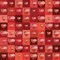 Background with squares and hearts Royalty Free Stock Photo