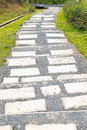 Background of stairway stone path Royalty Free Stock Photo