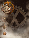 Background with steampunk elements Stock Photos