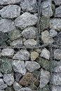 Background of stone and grating wall Stock Images