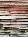 Background of stone wall and old wood texture brick Stock Photo