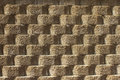 Background of stone wall textured rounded layered Stock Images