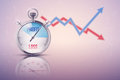 Background of stopwatch for forex trader time to market trading profit and loss editable vector illustration on white Royalty Free Stock Photo