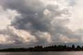 Background of storm clouds before a thunder storm Royalty Free Stock Photos