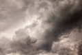 Background of storm clouds before a thunder storm Stock Photo