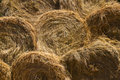 Background from straw bales Stock Photography