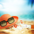 Background summer accessory composition Royalty Free Stock Images