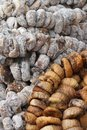 Background of sun dried and dried figs closeup Royalty Free Stock Images