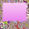 Background swirl colors puzzle frame Royalty Free Stock Photo