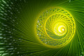 Background with swirly organic pattern green abstract spiral on glowing can suit for nice conceptual videos or presentations Stock Photo
