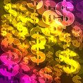 Background with symbol of dollars Royalty Free Stock Image