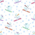 Background, teddy bears ski Royalty Free Stock Photos