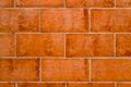 Background of terracotta bricks Royalty Free Stock Photo