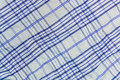 Background, texture of a checkered gray fabric with blue stripes Royalty Free Stock Photo