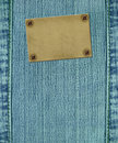 Background - texture jeans with label Stock Photo