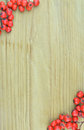 Background texture pattern of red rowan fruits frame (Sorbus) Royalty Free Stock Photo