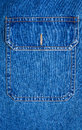 Background And Texture Of Pocket Of Blue Jean Shirt With Seams Royalty Free Stock Photo