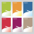 Background texture set vector six frame Green, orange, red, blue Royalty Free Stock Photo