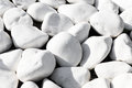 Background texture of smooth white stones Royalty Free Stock Photo