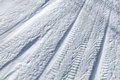 Background texture of  tire tracks on snow Royalty Free Stock Photography
