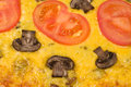 Background with texture vegetarian pizza Royalty Free Stock Photo