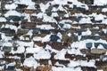 Snowy stonework Royalty Free Stock Photo
