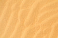 Background texture wavy yellow beach sand Stock Photo