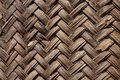 Background texture of woven bamboo thatch Royalty Free Stock Photo