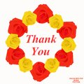 Background with thank you. Royalty Free Stock Photo