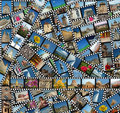 Background with travel filmstrips Stock Image