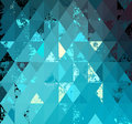 Background of triangles with grunge elements Stock Image